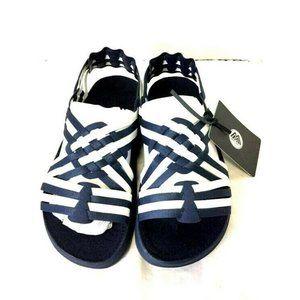 Malibu Canyon Sandals Two Tone Navy White